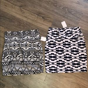 •BUNDLE• 2 Charlotte Russe skirts.